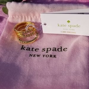 Kate Spade 💎 Triple Gold Plated Rings 💍